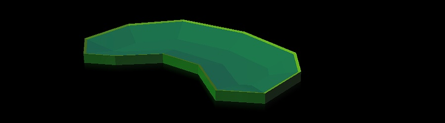 """3D pond from import CAD drawing for Urban Stormwater MSMA"""