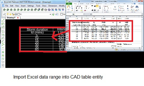 """Imprt Excel data into CAD"""